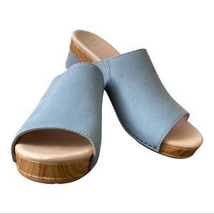 Dansko New Women's Sandal Maci Blue Nubuck Leather size 38